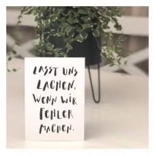 Lasst Uns Lachen, Wenn Wir Fehler Machen Postkarte