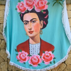 Life is better by the sea - Frida Kahlo Roundie