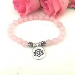 Was für`s Herz - das Lotus Rosenquarz Armband Sonderpreis