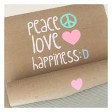♥ PEACE LOVE HAPPINESS ♥   Yogamatte von Herzteil