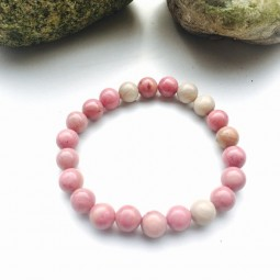 Be The Change Rhodonite Armband - Yoga Schmuck by Herzteil