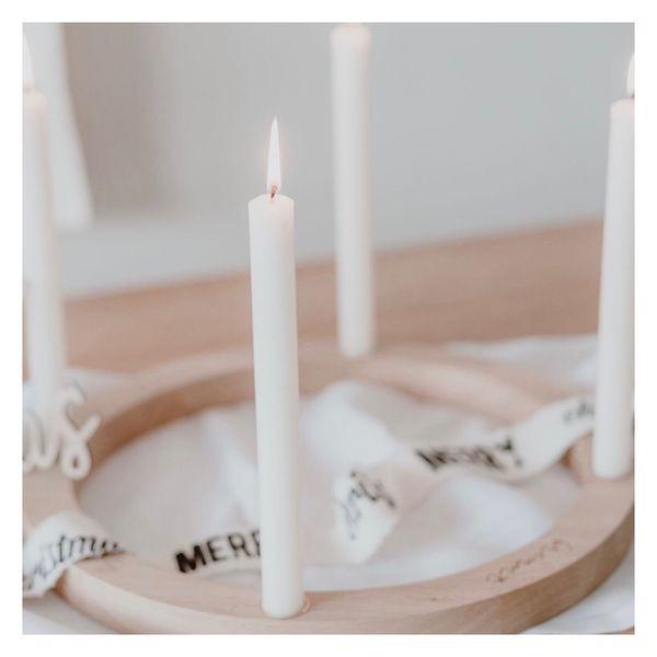 Ein Kranz für die Ewigkeit - Adventskranz aus Eichenholz