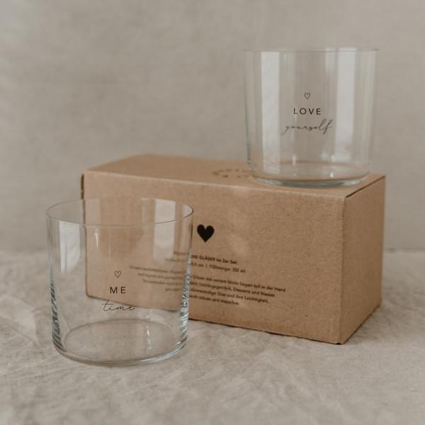 Design Selflove Trinkglas im 2er Set