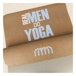 ♥ REAL MEN DO YOGA -♥ Yogamatte mit Monogramm