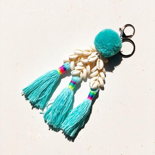 Schlüssel-/Taschenanhänger türkis