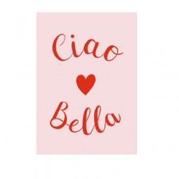 Ein Kompliment - Ciao Bella ;-) - Postkarte