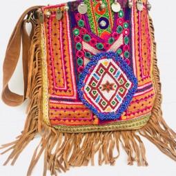 Bohemian Wildleder Tasche