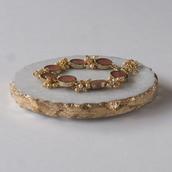 Hübsches Bohemian Armband - Blush