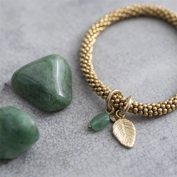 Aventurin Gold-Armband