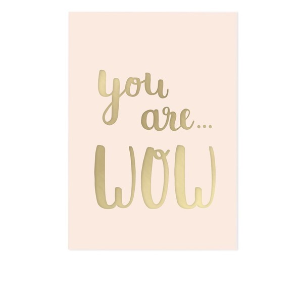 you are WOW - Postkarte