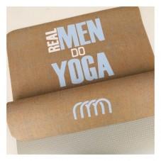 ♥ REAL MEN DO YOGA -♥  Yogamatte mit Monogramm