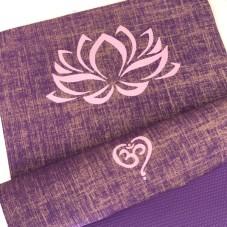 Herzteil Jute Yogamatte Karma Deluxe Lotus
