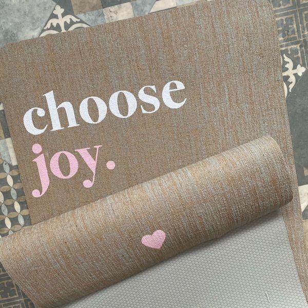 Choose Joy Herzteil Yogamatte