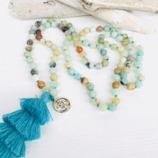 Summer Breathe 108 Mala by Herzteil