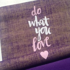 Herzteil Jute Yogamatte Do What You Love