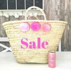 Großer Pom Pom Korb pink ombre - Sale