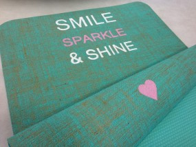 Herzteil Jute Yogamatte Smile, Sparkle & Shine Herzteil