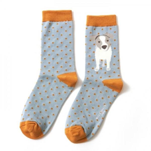 No Boring Socks für SIE - Jack Russel Bambussocken