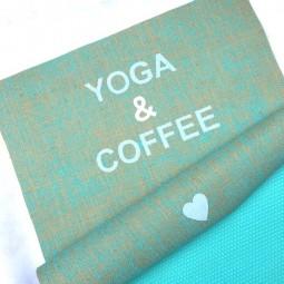 Herzteil Jute Yogamatte YOGA & COFFEE