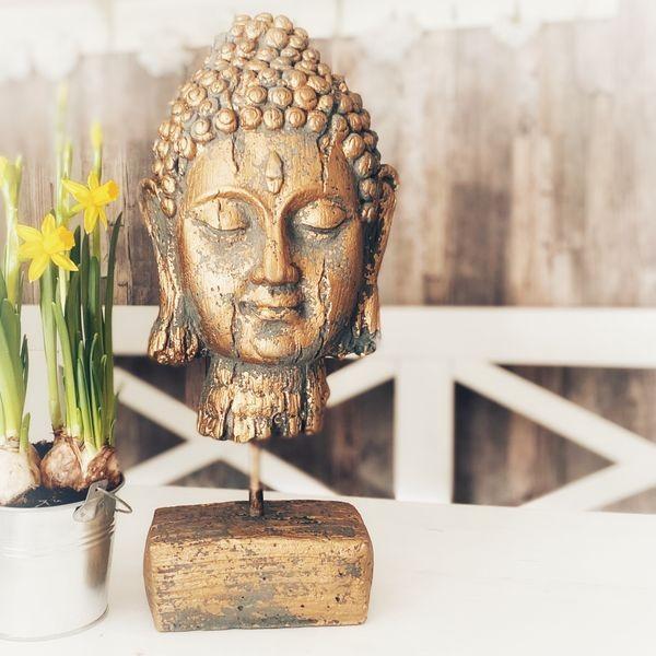 Buddha Love - Steinstatue