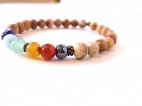 Jaspis Chakra Armband für den Yogi