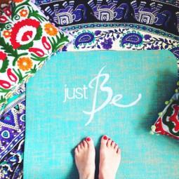 Herzteil Jute Yogamatte Just Be