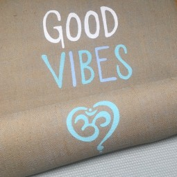 Good Vibes Jute Yogamatte by Herzteil