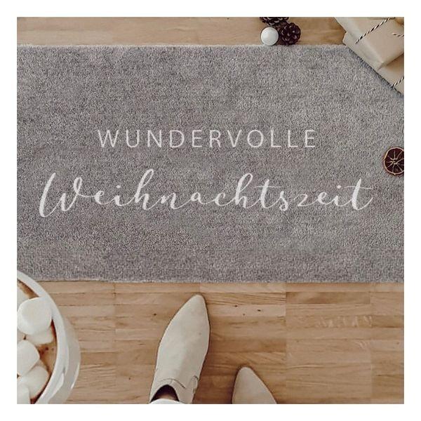 Wundervolle Weihnachtszeit - waschbare Fußmatte