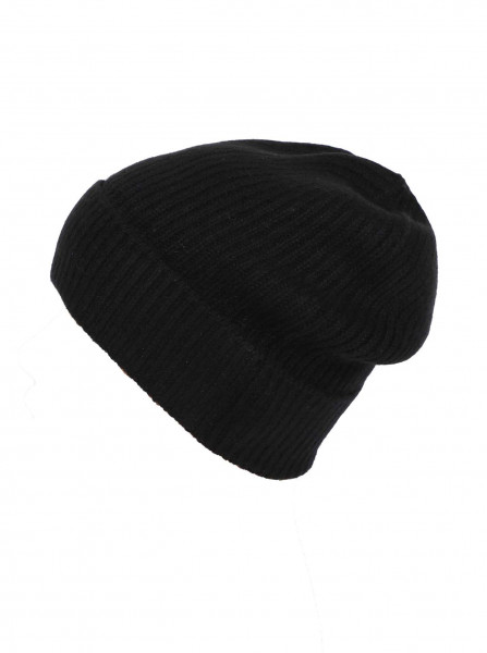 100% Cashmere Mütze-schwarz