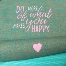Do more of what makes You happy- Juteyogamatte by Herzteil