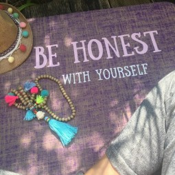Herzteil Jute Yogamatte Be Honest With Yourself