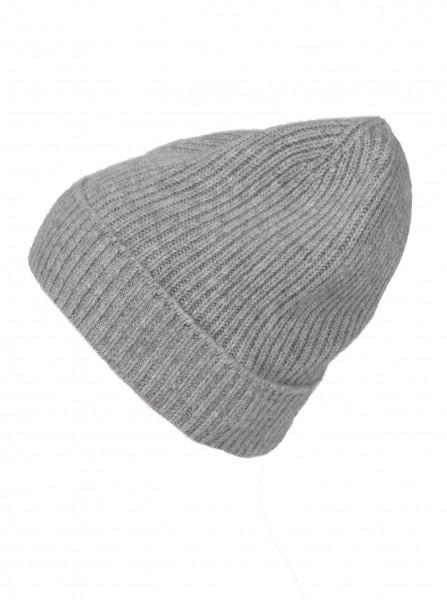 100% Cashmere - Mütze hellgrau