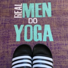 Herzteil Jute Yogamatte REAL MEN DO YOGA mit Monogramm