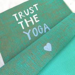 Herzteil Jute Yogamatte Trust The Yoga
