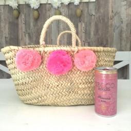 Mini Pom Pom Korb pink ombre - SALE