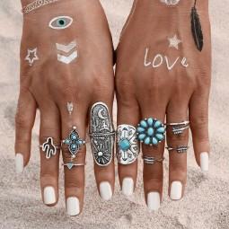 Bohemian Ring Set by Herzteil
