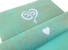 Herzteil OM Herz Jute Yogamatte