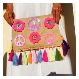 Bohemian Peace Clutch
