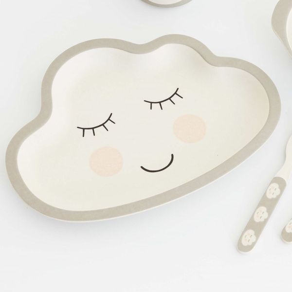 Smile Bambus Teller für Kinder