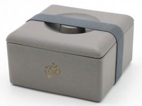 Mach mal ne Pause - OM Lunchbox aus Bambus -anthrazit