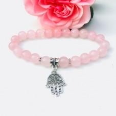 Protected Love - Rosenquarz Armband by Herzteil zum Sonderpreis