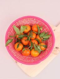 Ein wenig pink geht immer - hübsche Berber Obst Schale