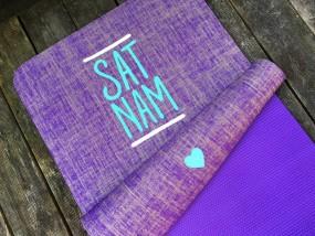 Herzteil Jute Yogamatte SAT NAM Yogamatte