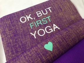 Herzteil Jute Yogamatte O.k., but first Yoga