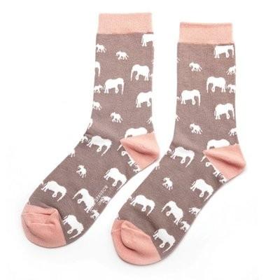 No Boring Socks für SIE - Elefant Bambussocken