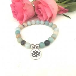 Herzteil Joy Armband mit Lotus Charm