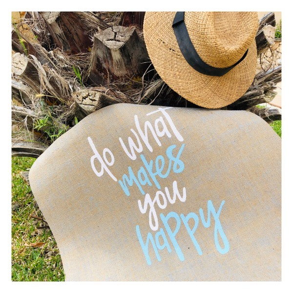 Do What Makes You Happy Yogamatte von Herzteil