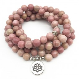 Be The Change Rhodonite Mala - Yoga Schmuck by Herzteil