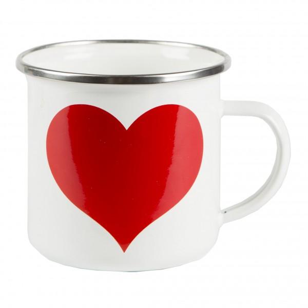 Herzteil Herz Emaille Becher