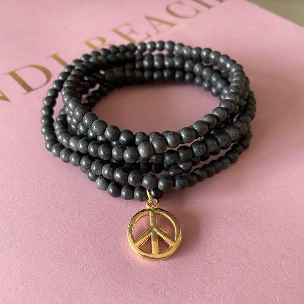Zarte(s) Peace Armband/Kette schwarz